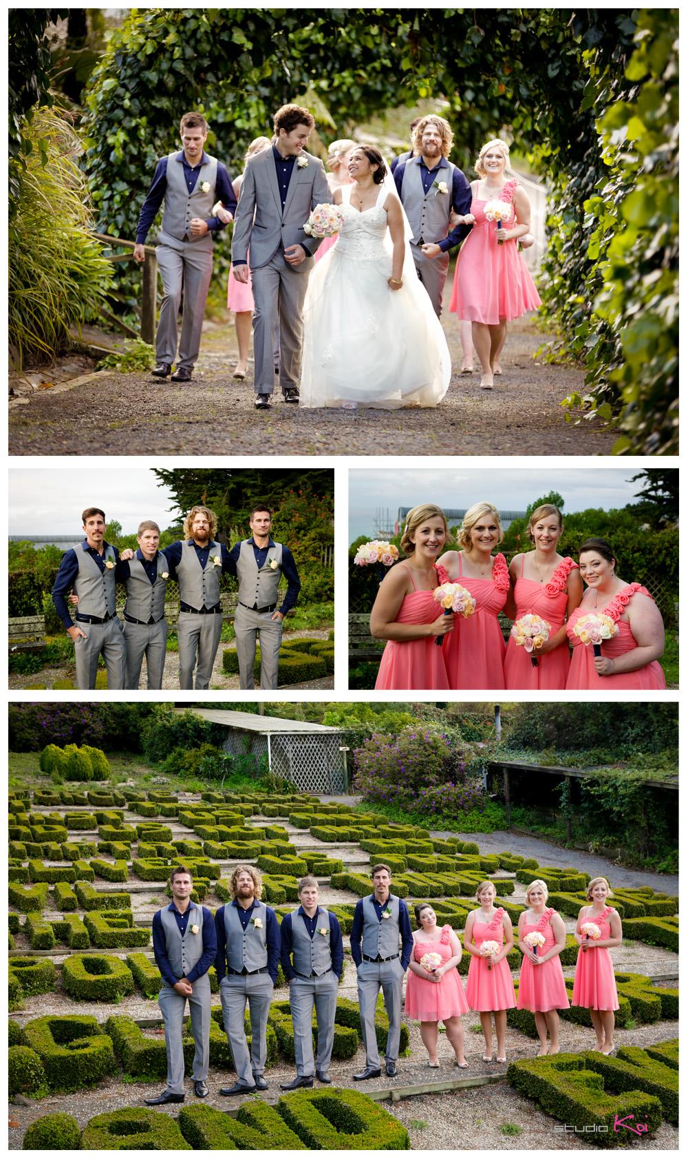 Gethsemane Gardens Christchurch wedding bridal party