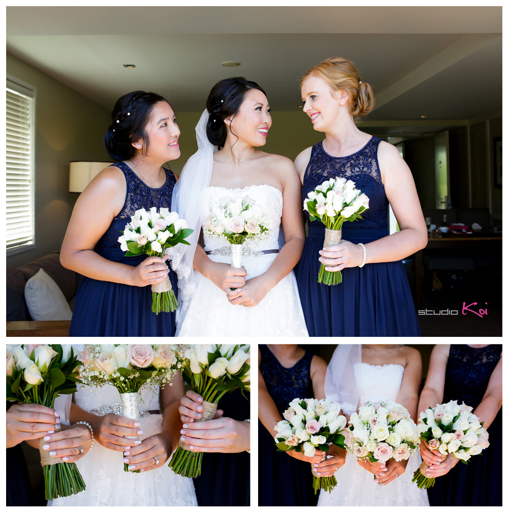 Bride and bridesmaids getting ready at    Peppers  Clearwater  Resort  christchurch