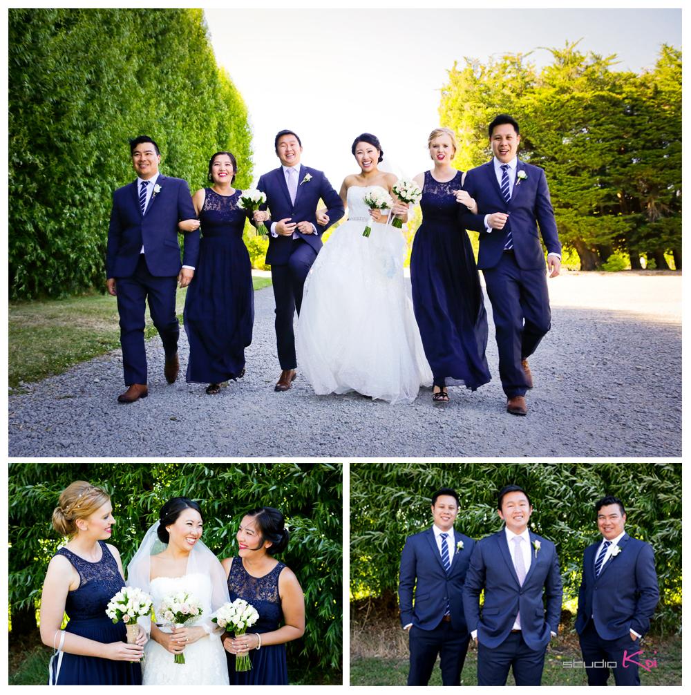 rossendalevineyardwinerywedding bridal parties christchurch