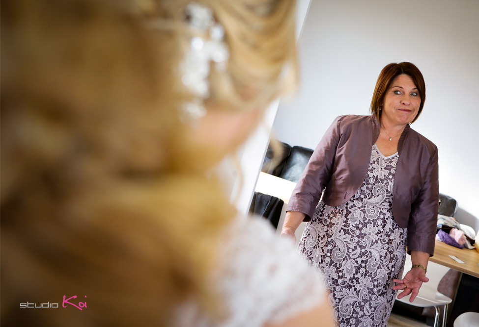 Bride   getting ready Christchurch wedding photographers