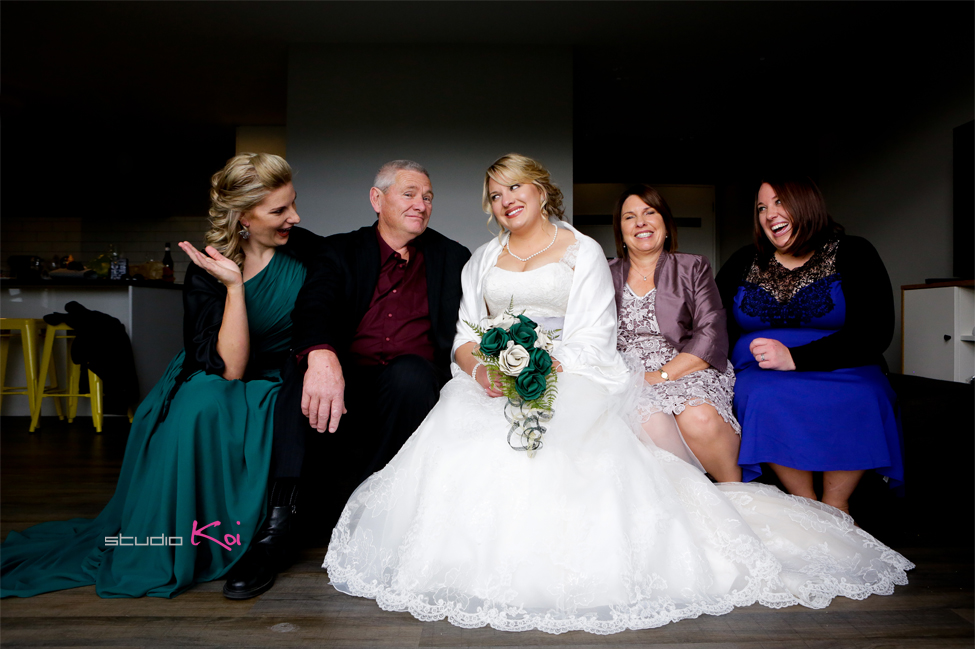family protrait   Christchurch wedding photographers