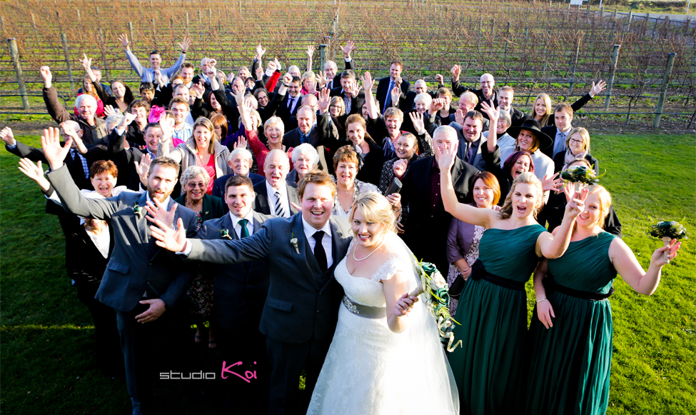 Melton Estate wedding Family group photo