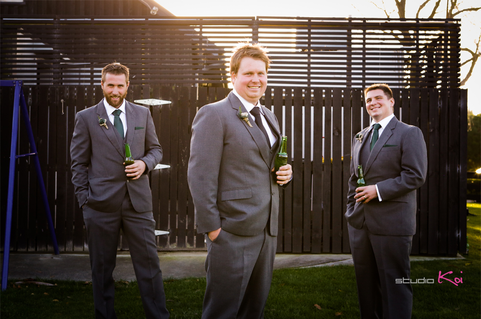 Melton Estate wedding groom groomsmen