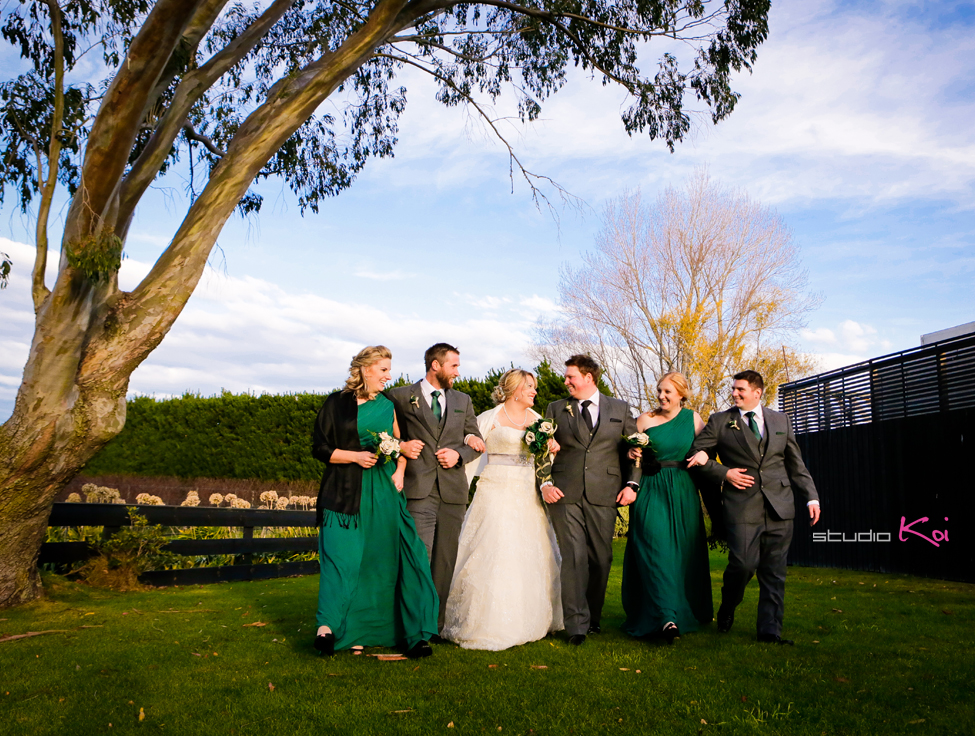 Melton Estate bridal party Christchuch