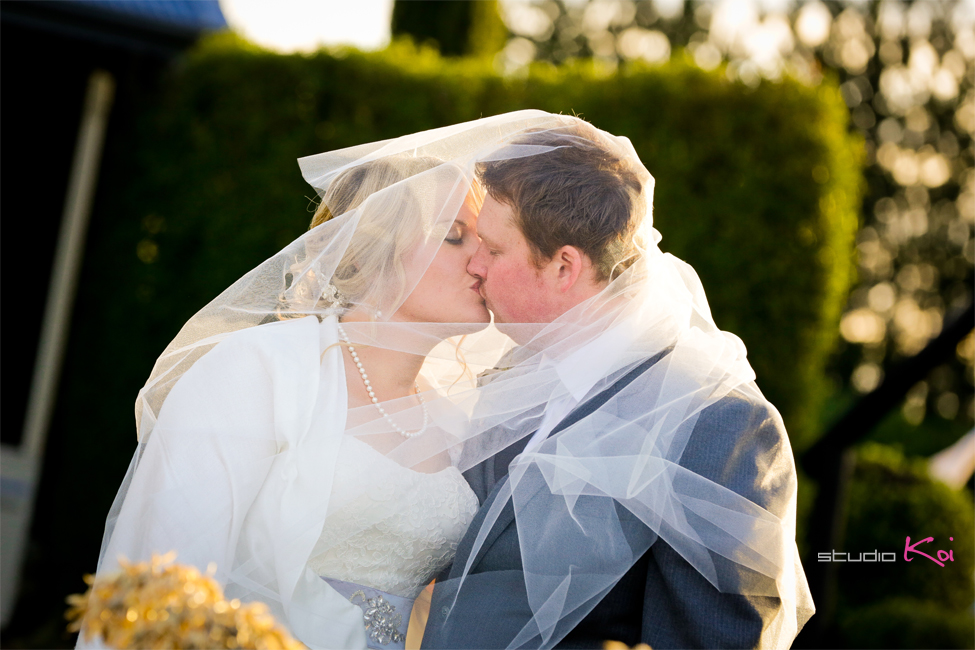 Bride and groom melton estate winter wedding