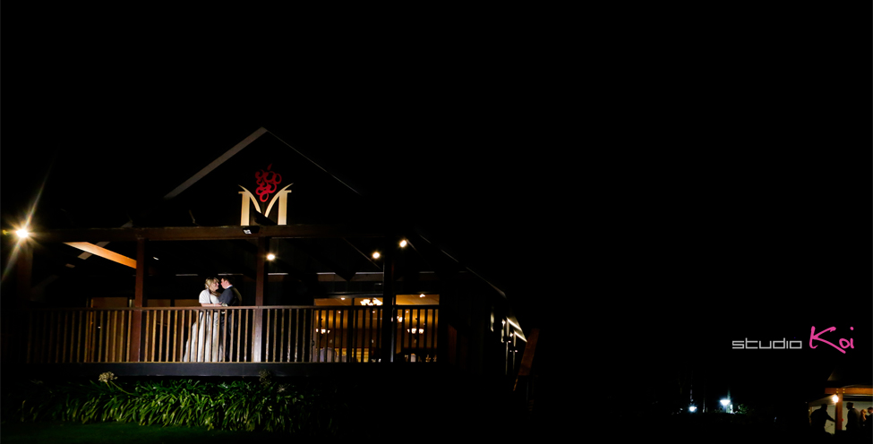Melton Estate night shot wedding