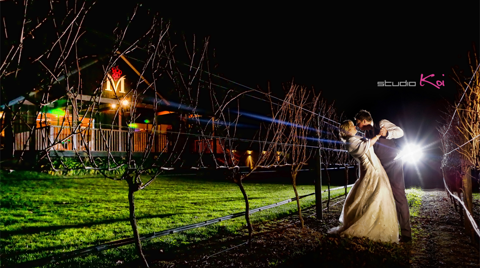 Melton Estate night shot wedding photography