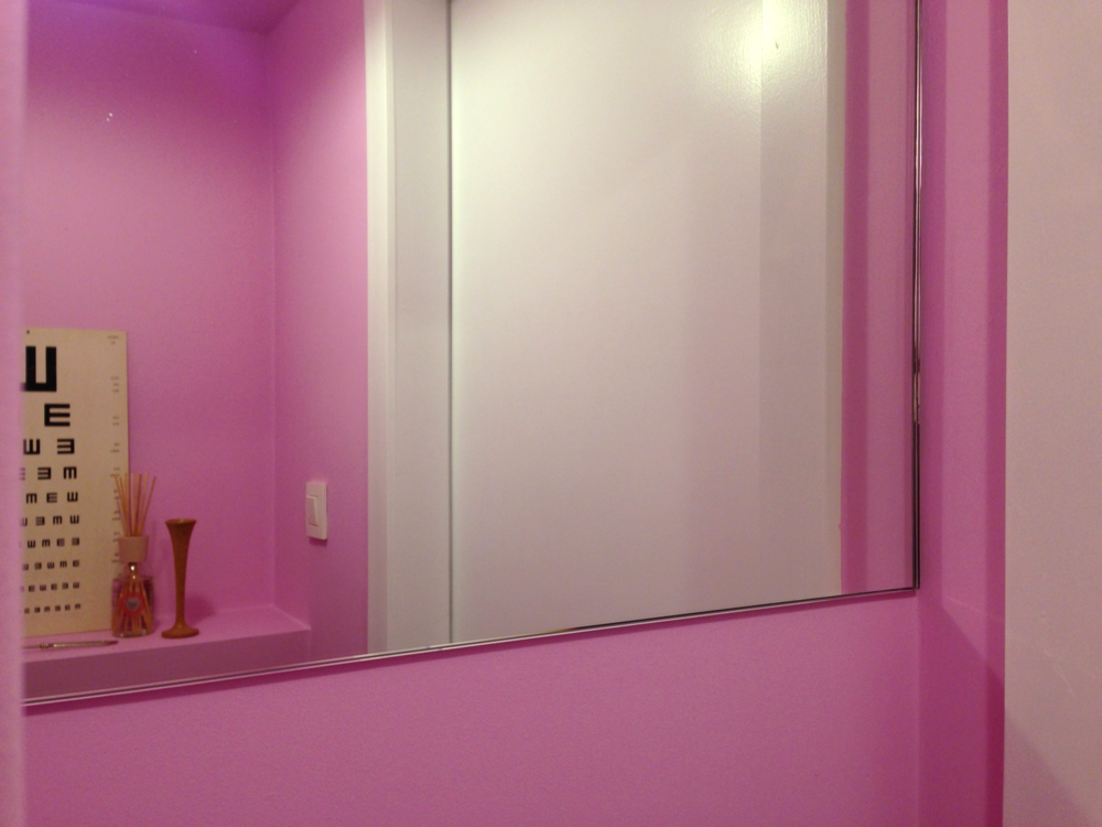 Pink styling smallest room