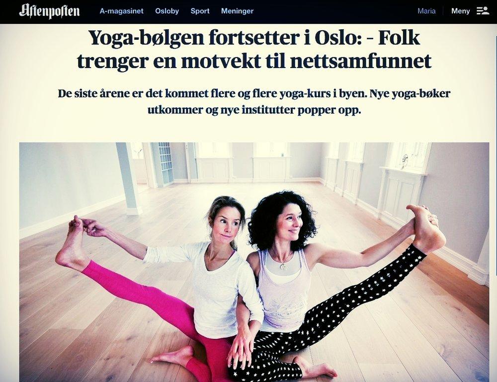 Yogabølgen fortsetter, Aftenposten 2017.jpg