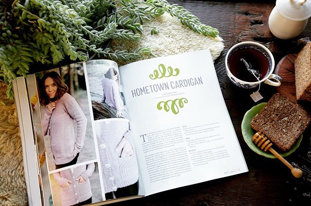 So happy and proud! Another feature in the beautiful @taprootmag with Verena's beautiful design for @thewoolclub! Woohoo