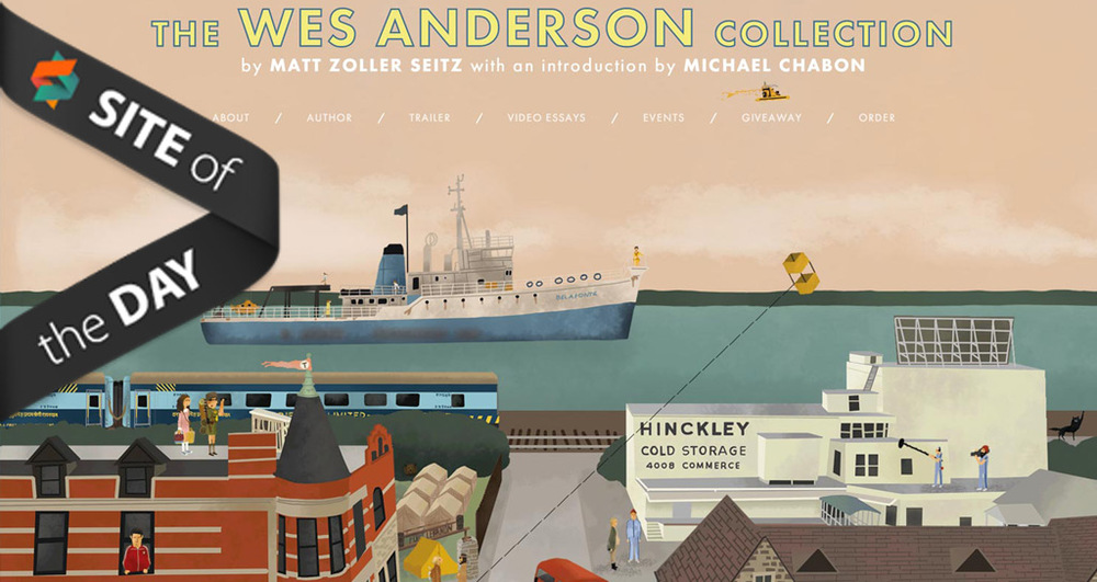 The Wes Anderson Collection Book Microsite