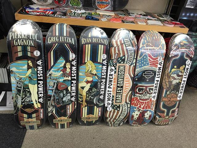 Here is the whole collection of the new @harleydavidson skate decks! Pretty sweet