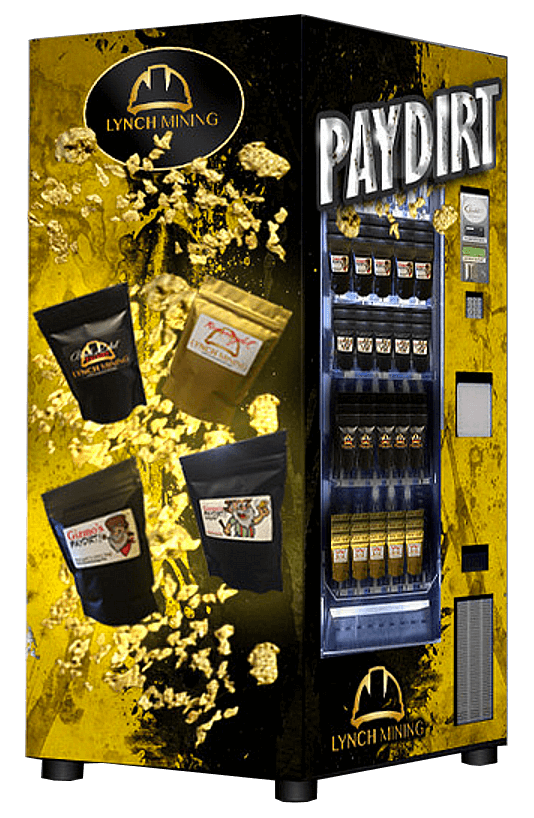 LYNCH MINING NOW OFFERING THE WORLDS FIRST PAYDIRT VENDING MACHINES