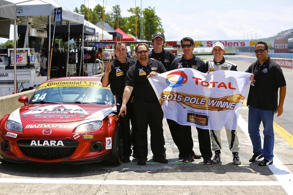 Piscitell with the Alara racing crew.