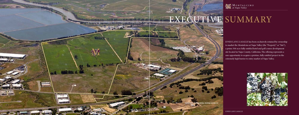 Napa Valley resort property offering from Jones Lang LaSalle.