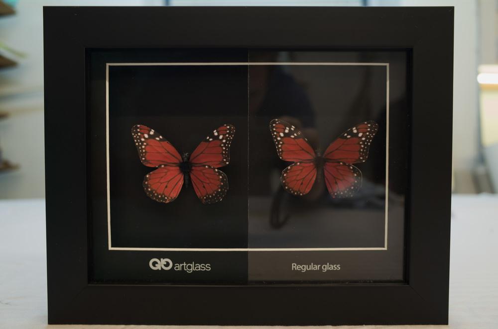 Rammeverkstedet bruker Groglass sitt kunstglass