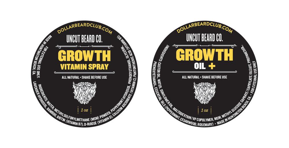 Growth Oil Label Design