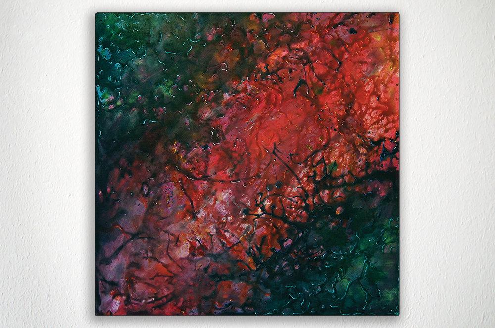 "INTERNAL UNIVERSE - 24"" X 24"" - Acrylic on MDF"