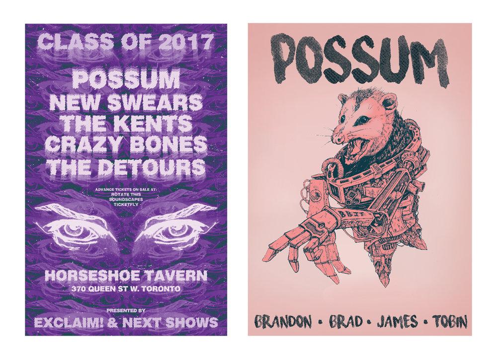 possum music poster graphic design