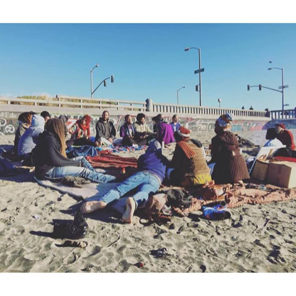 2015 NYE Healing Circle, San Francisco Ocean Beach