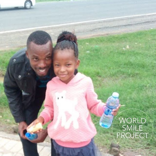 Our friend @calebchauro and his beautiful daughter Trinah smile for charity. @UNEP @worldFoodProgramm.