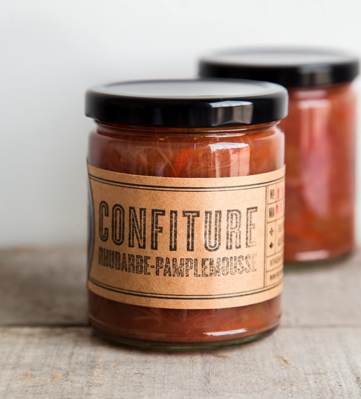 Preservation Society : confiture rhubarbe-pamplemousse