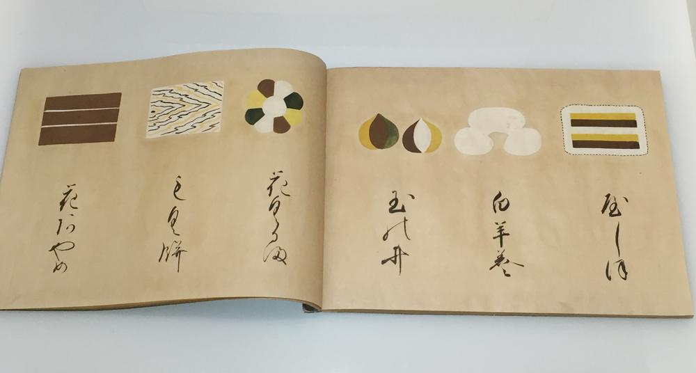 Proposition pour un livre de recette montrant les différents types de Wagashi.
