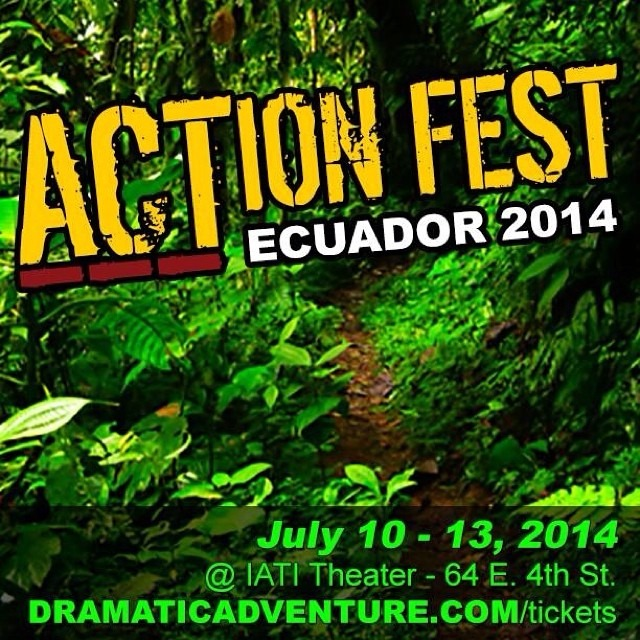 #ACTionFest is off to an amazing start! It's Friday!!! So, join us tonight and get a free shot of #firewater. #dramaticadventure #movedtoact #aguardiente #feelingadventurous #ecuador #play #obra #theatre #teatro #tgif