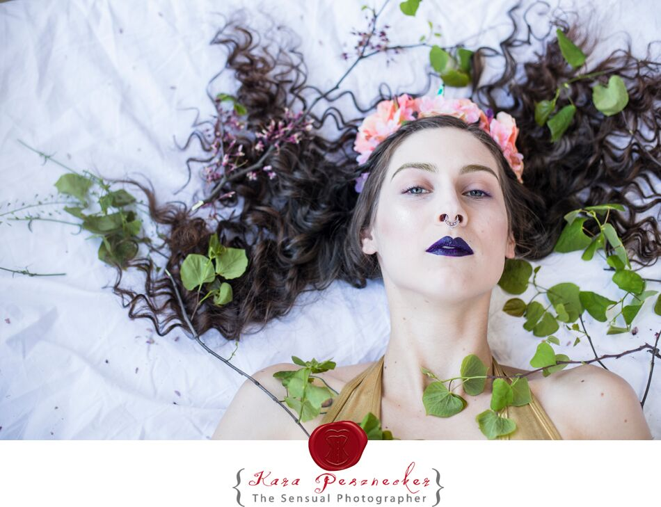 Angela   Flower crystal crown made by me  Photographer:   The Sensual Photographer