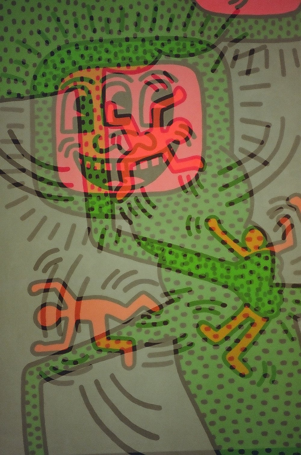 Untitled 1984 April 13,  Keith Haring Allouche Gallery, Chelsea