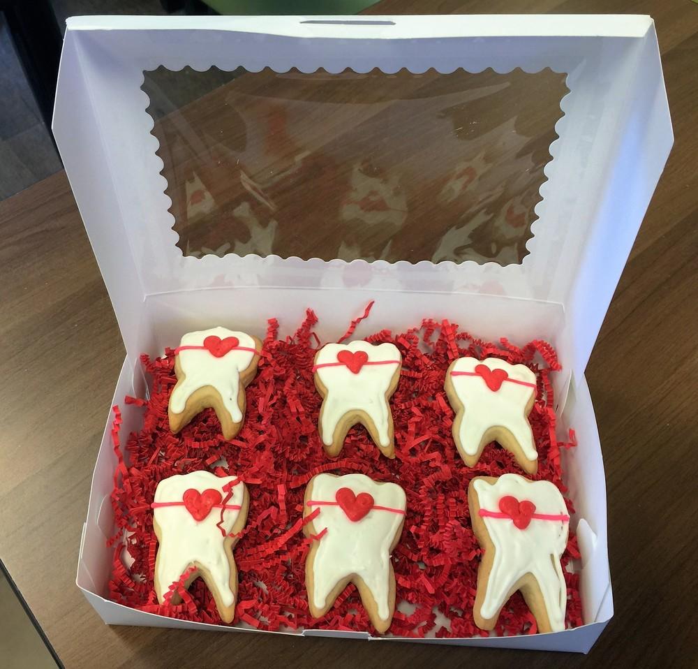 Valentines Tooth Cookies