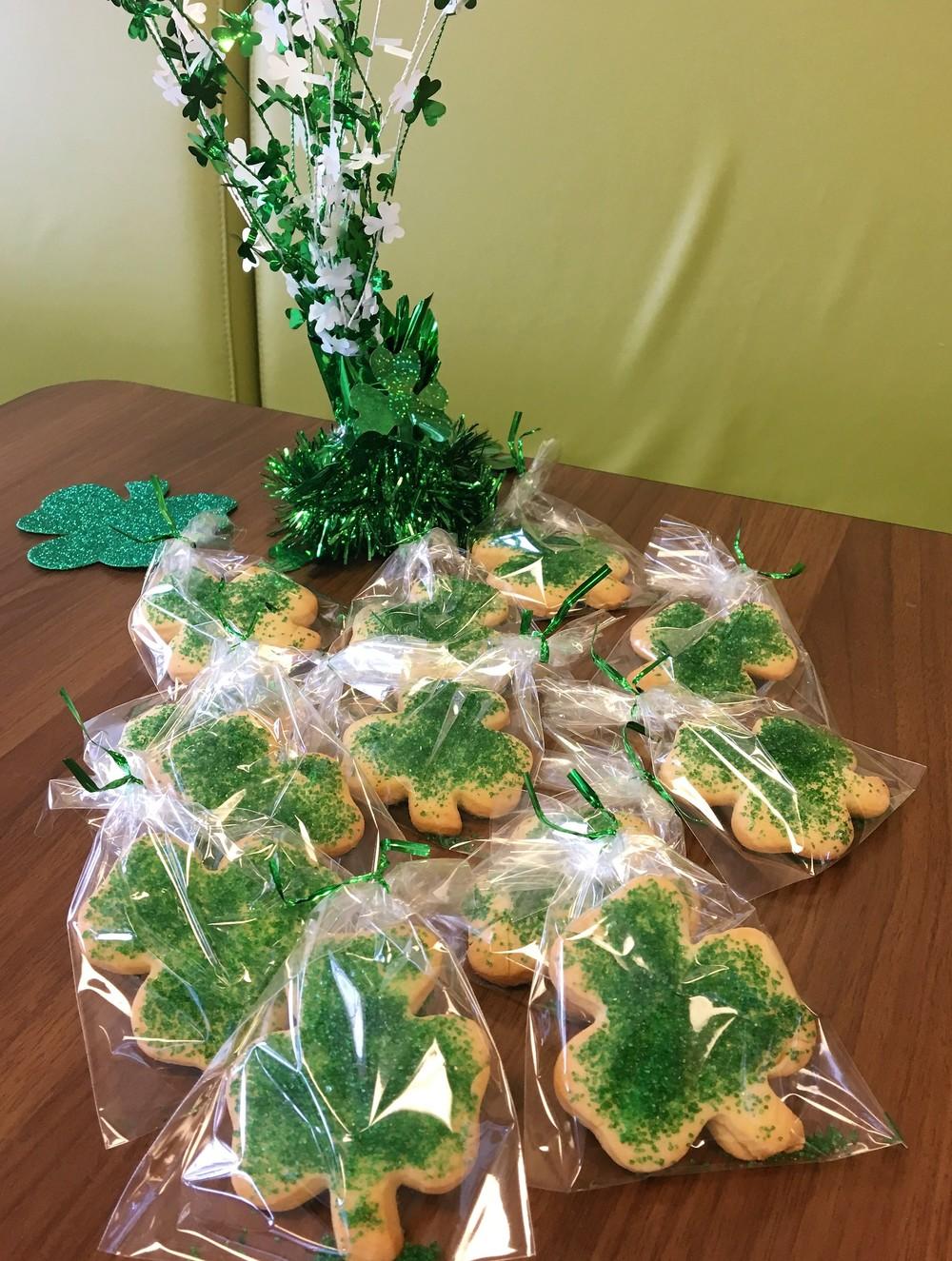 Irish Clover Sugar Cookies