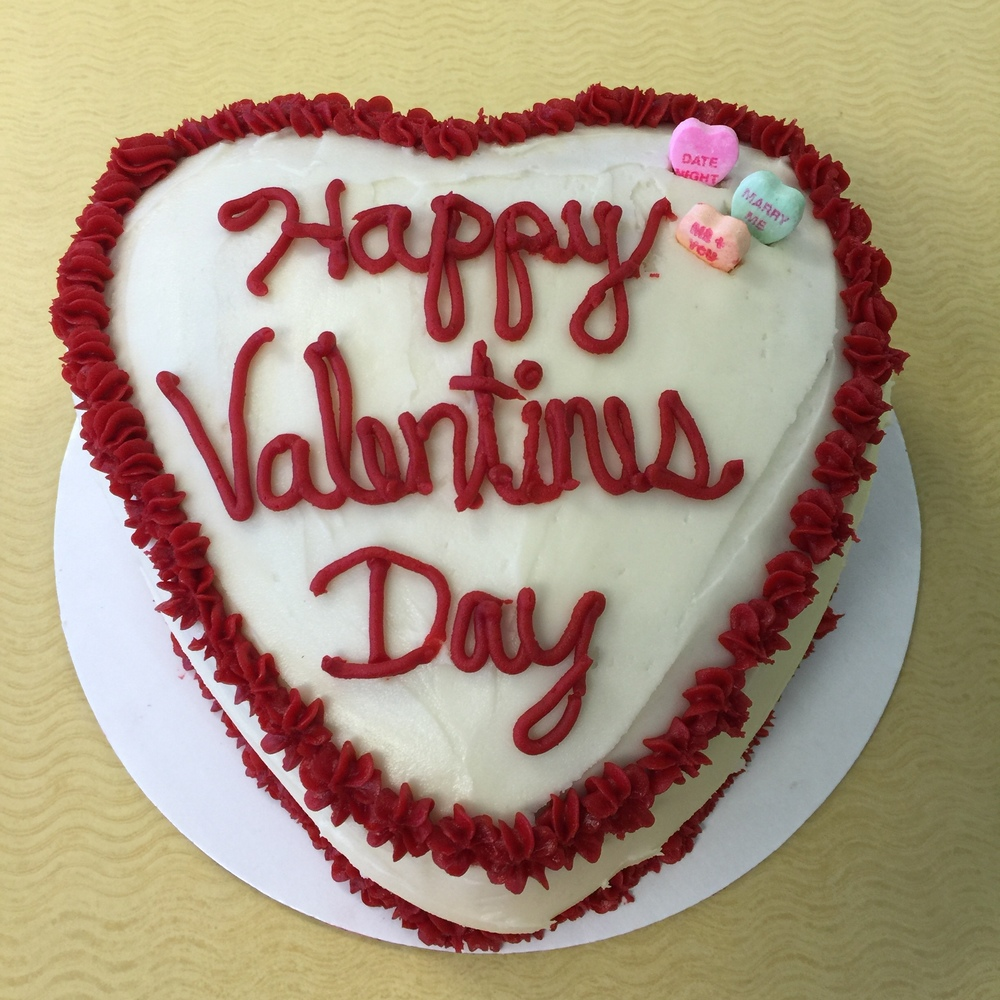 Valentines Yellow Cake