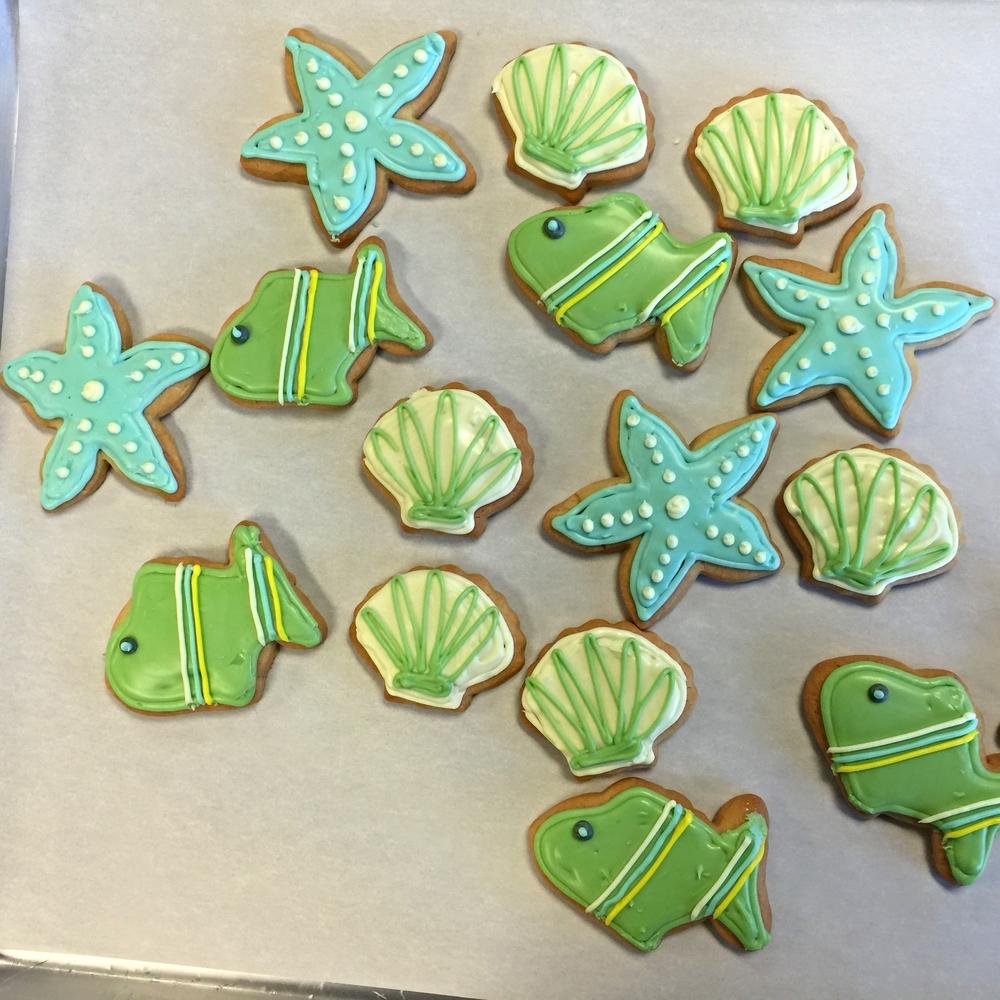Fish & Sea Shell Cookies