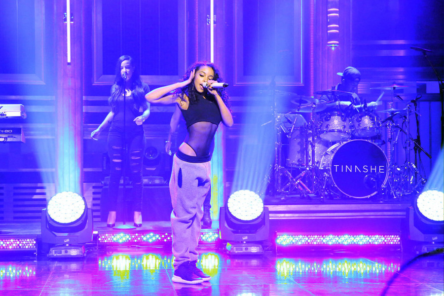 "Tinashe and dancers for Jimmy Fallon's ""The Tonight Show"""