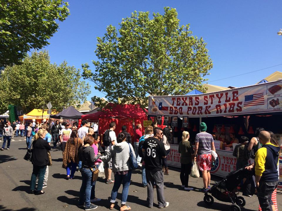 There was more than 10 different outdoor street food vendors.