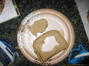 make sandwiches with cookie cutters