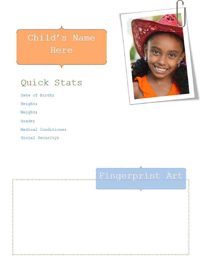 child quick stats facts sheet
