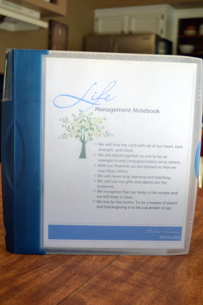 life management binder notebook