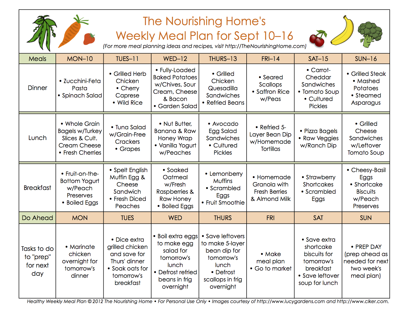 Bi Weekly Meal Plan For September 316 The Better Mom