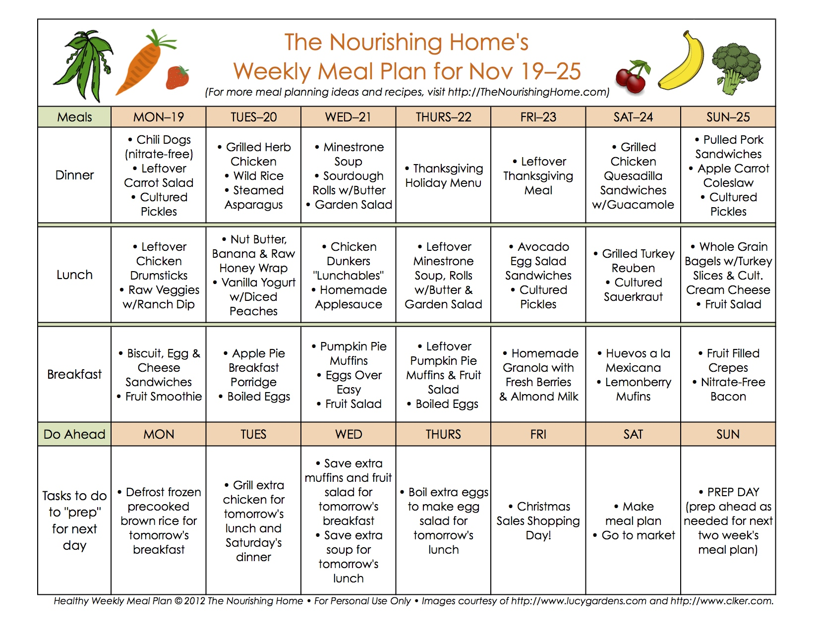 Bi-Weekly Meal Plan for November 12–25 — the Better Mom