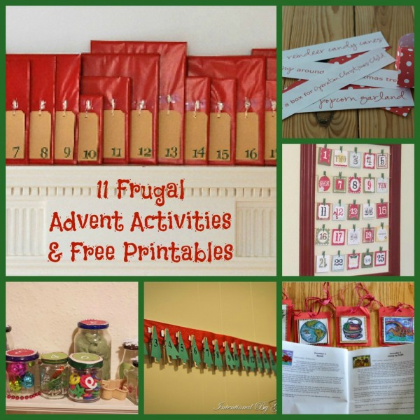 11 Frugal Advent Activities & Free Printables
