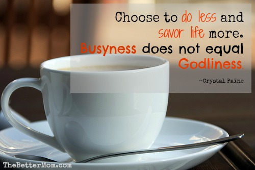 Busyness does not equal Godliness