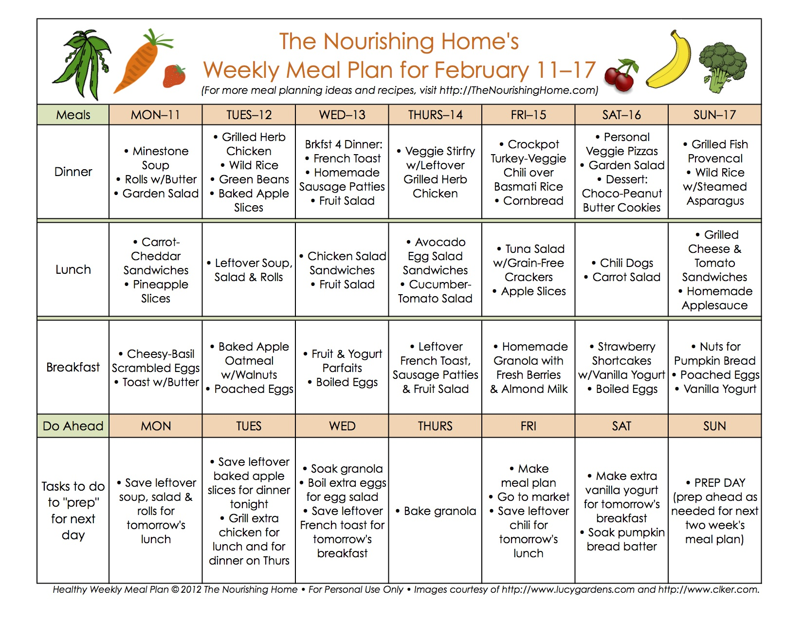 1 week healthy food plan - New Meal Plan 40a New Meal Plan 40b
