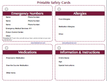 emergency card PDF