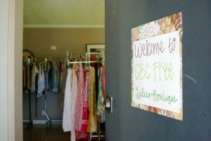 Organizing a FREE Ladies Boutique
