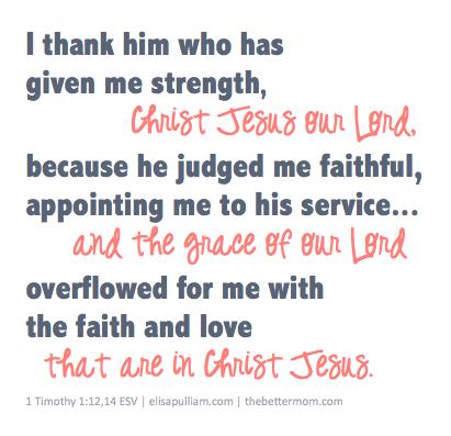 I thank him...