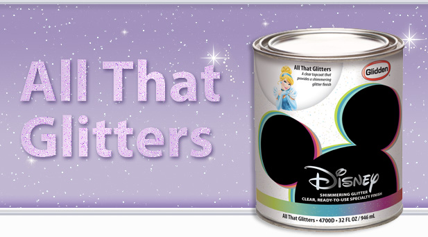 Disney's All That Glitters Specialty Paint Finish ~www.thebettermom.com