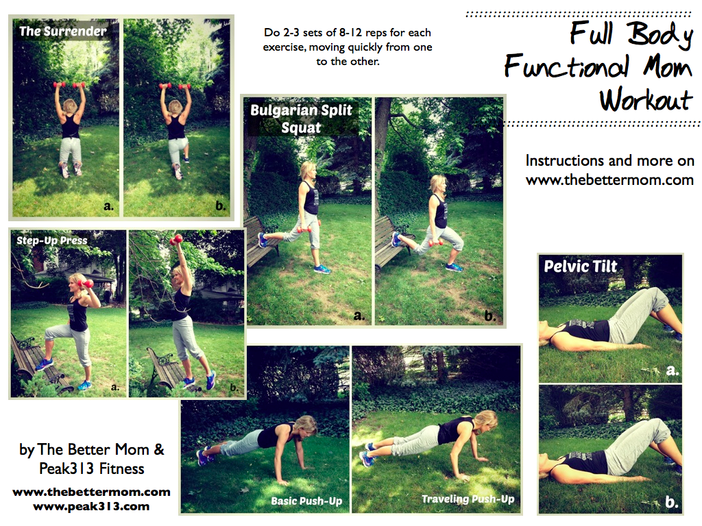 Full Body Functional Mom Workout (FREE Printable) Workout