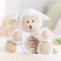Jesus Loves Me - Musical Lamb Plush - White